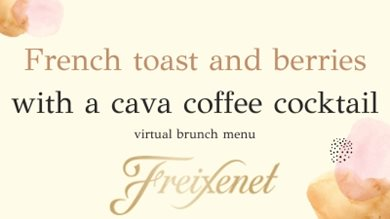 Virtual Brunch Menu